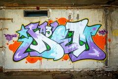 Grafitti på väggen Royaltyfri Bild