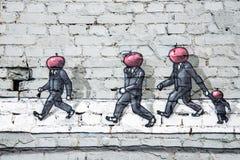 Grafitti på väggen Royaltyfri Foto