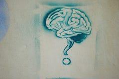 Grafitti på väggen Arkivfoto