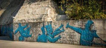 Grafitti på väggen Arkivbild