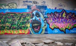 Grafitti på väggen Royaltyfri Fotografi