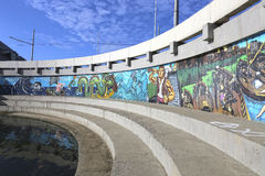 Grafitti på väggen i Kazan Royaltyfri Foto