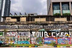 Grafitti parkerar Arkivfoton
