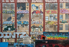 grafitti 5Pointz i New York Royaltyfri Bild