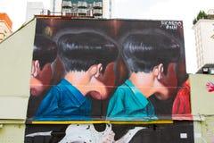 Grafitti Sao Paulo Royaltyfri Fotografi