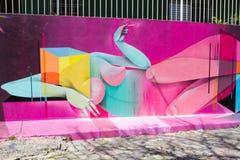 Grafitti Sao Paulo Arkivfoton