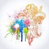 grafitti skissar stock illustrationer