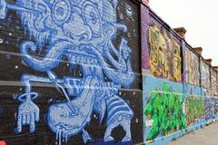 Grafitti Tyskland Arkivfoton