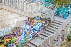 Grafitti in the urban area Royalty Free Stock Photo