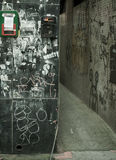 Grafitti vid bakgatan Royaltyfria Foton