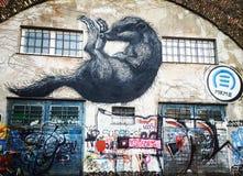 Grafitti vienna arkivbild