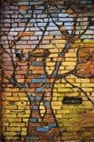 Grafitti wal. Colorful brick wall with grafitti Royalty Free Stock Image