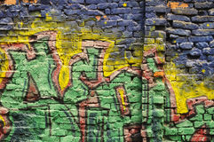 Grafitti wall Stock Image