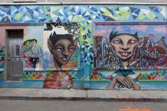 Grafitti wall in kensington market toronto Stock Photography
