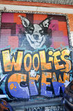 Grafitti: Woolies besättningbild i Fremantle Arkivfoton