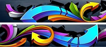 Grafittibakgrund Arkivbild