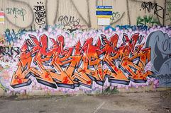 Grafittibakgrund Arkivbilder