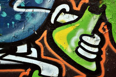 Grafittibeståndsdel Fotografering för Bildbyråer