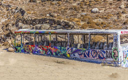 Grafittibuss Arkivfoto