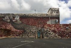 GrafittiColumbus ankomst på havet av blod och dött Fotografering för Bildbyråer