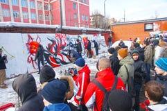 grafittidriftstopp Arkivbilder