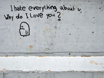grafittiförälskelse Royaltyfri Foto