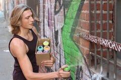 Grafittigata Art Culture Spray Abstract Concept Royaltyfria Foton
