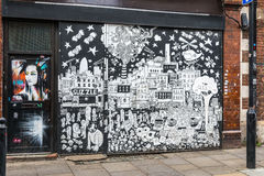 Grafittigatakonst i London Arkivbilder