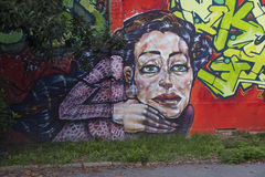 Grafittikonst arkivfoton