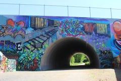 Grafittikonst Arkivfoto