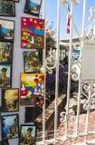 Grafittikonst av den ValparaÃso staden i Chile Royaltyfri Foto