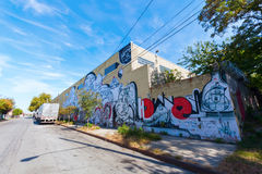 Grafittikonst i jaktpunkt, Bronx , NYC Fotografering för Bildbyråer