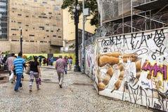 Grafittikonst i Sao Paulo, Brasilien fotografering för bildbyråer