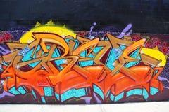Grafittikonst på östliga Williamsburg i Brooklyn Arkivfoto