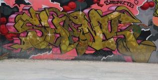Grafittikonst på östliga Williamsburg i Brooklyn Arkivbild