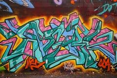 Grafittikonst på östliga Williamsburg i Brooklyn Royaltyfria Bilder