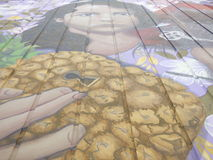 Grafittikonst, vägg i San Juan, Puerto Rico Royaltyfria Foton