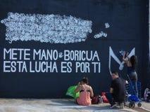 Grafittikonst, vägg i San Juan, Puerto Rico Royaltyfri Fotografi