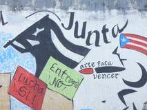Grafittikonst, vägg i San Juan, Puerto Rico Arkivfoto