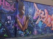 Grafittikonst, vägg i San Juan, Puerto Rico Royaltyfri Foto