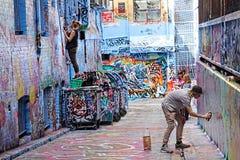 Grafittikonstprojekt Royaltyfria Bilder