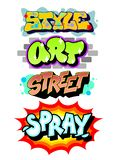 Grafittikonstslogan flaskchampagnekork detailed leaves för exponeringsglasdruvadruvor som plaskar vektorn vektor illustrationer