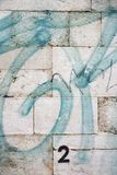 grafittilisbon portugal vägg Arkivbilder