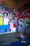 grafittilokal Arkivbilder