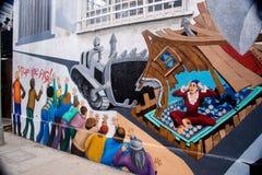 Grafittimålning i Venedig, Kalifornien Arkivbilder