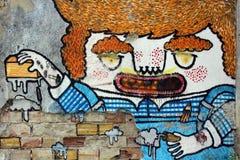Grafittioljekanna arkivfoton