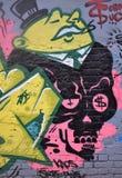 Grafittis ávidos do homem de negócio Fotografia de Stock Royalty Free