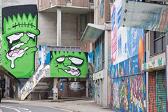 Grafittis 5 de Bristol Imagem de Stock