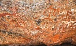 Grafittis aborígenes Imagens de Stock Royalty Free