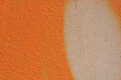 Grafittis alaranjados Imagens de Stock